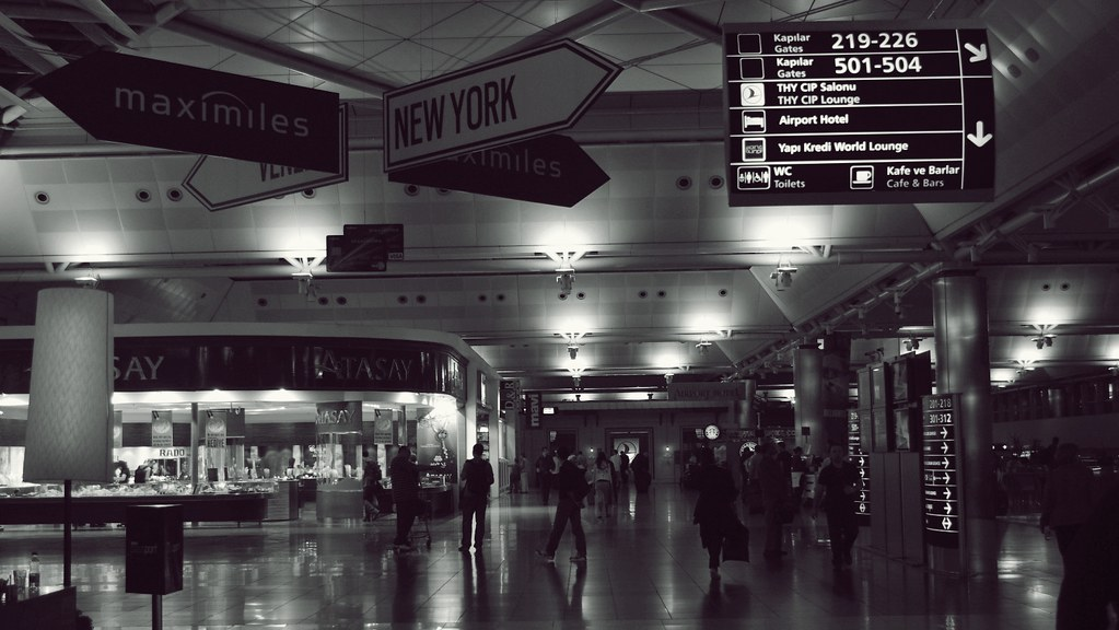 Terminal at IST Atatürk Airport - Istanbul