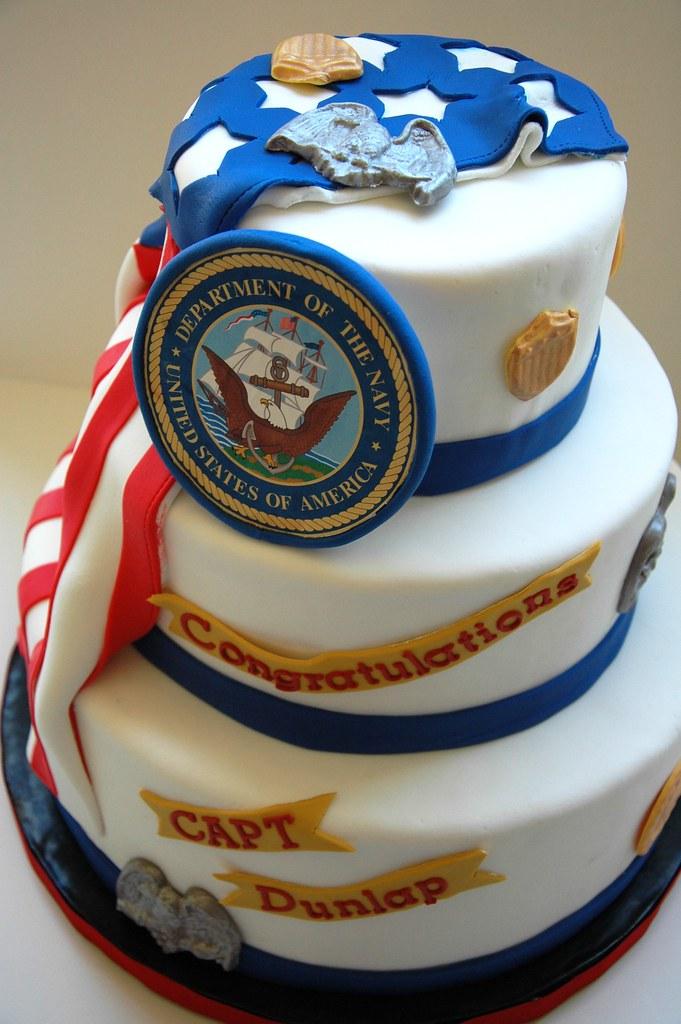 Navy Retirement Chocolate Mud Cake With Marscapone