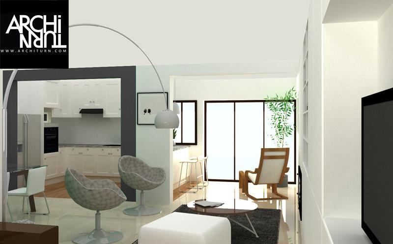 r nover son salon r nover son salon un projet architurn flickr. Black Bedroom Furniture Sets. Home Design Ideas