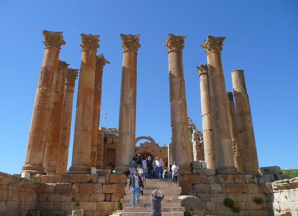 Jarash, Jordan Temple of Artemis ~ front | Artemis was the ...