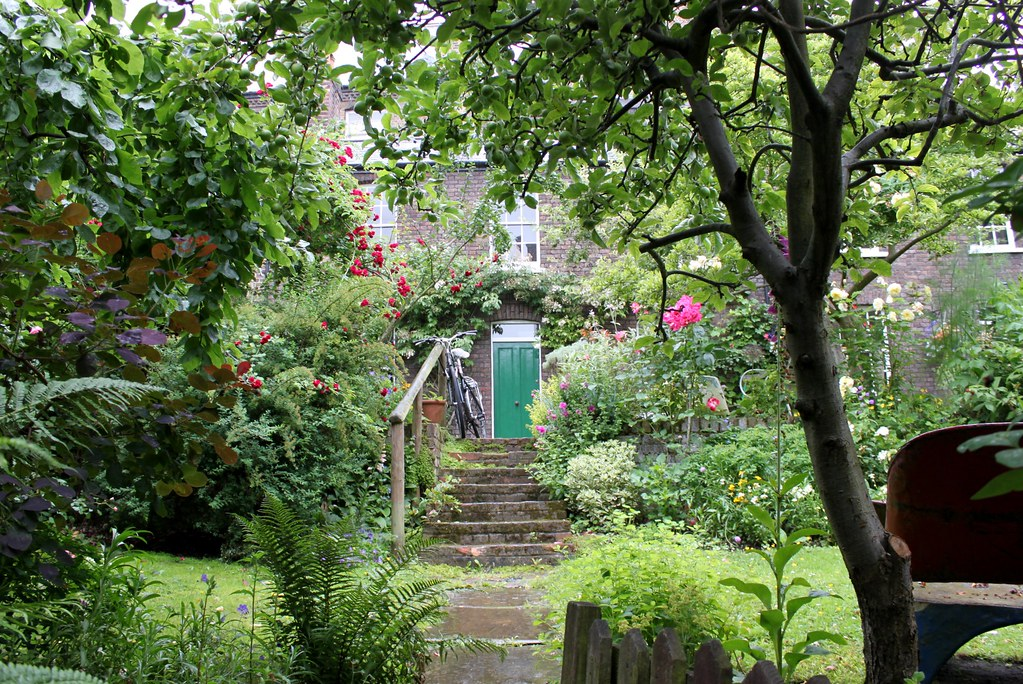 Cottage garden with apple tree mansfield place on my for Garden trees photos