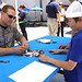 San Diego Padres Catcher Signs Autographs for Military Kids