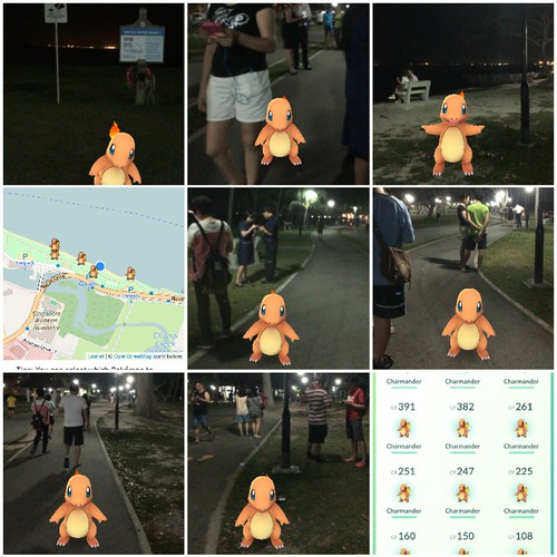 Charmander nest at Changi Village. Pokemon Go Trainer tour of Singapore