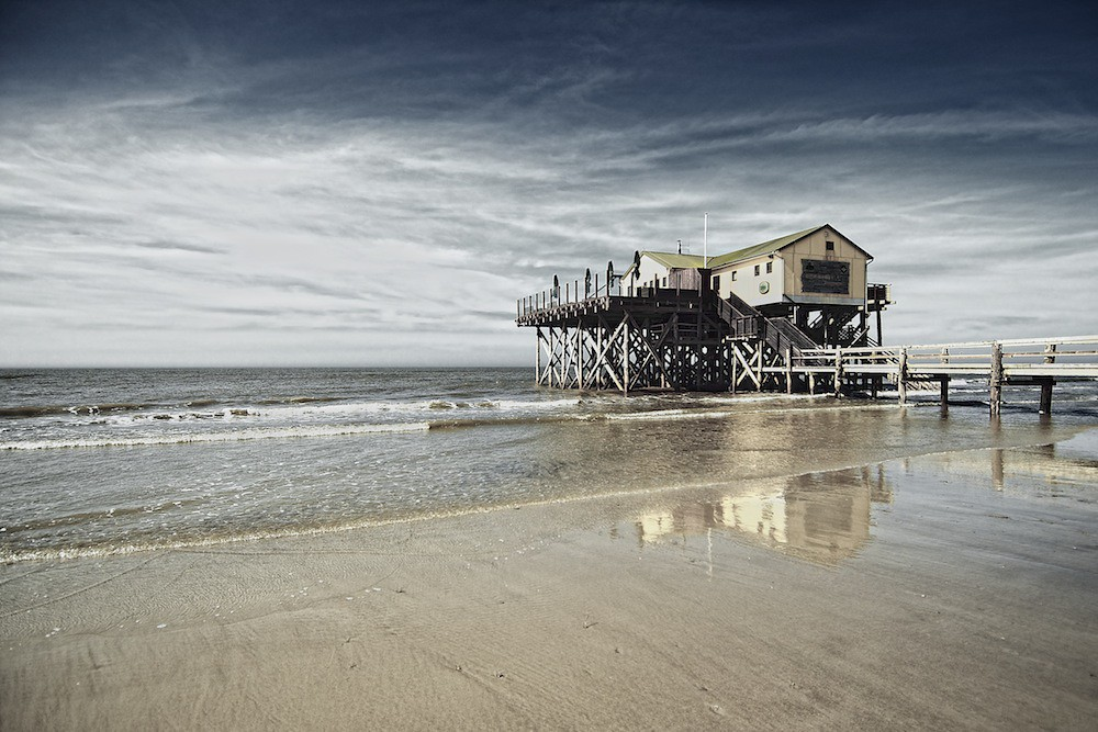 st peter ording strandbar 54 nord yesterday in st. Black Bedroom Furniture Sets. Home Design Ideas