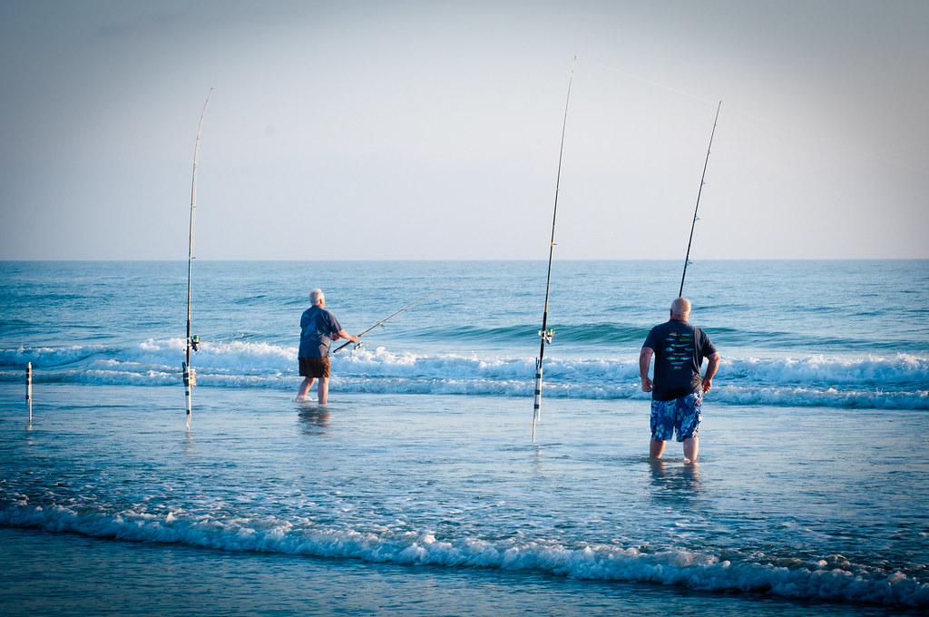 Surf fishing in new smyrna beach baldygull flickr for Surf fishing virginia beach