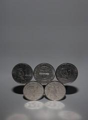 Balancing coins