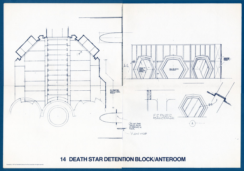 Star Wars Blueprints Death Star Detention BlockAnte Flickr - Death star blueprints