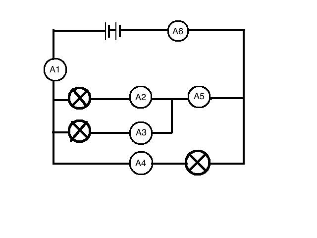 parallel circuit w   ammeter