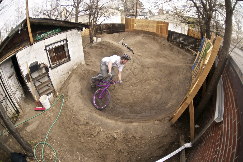 Backyard Pump Track Layout : Robs backyard pump track  If you like these photos be sure