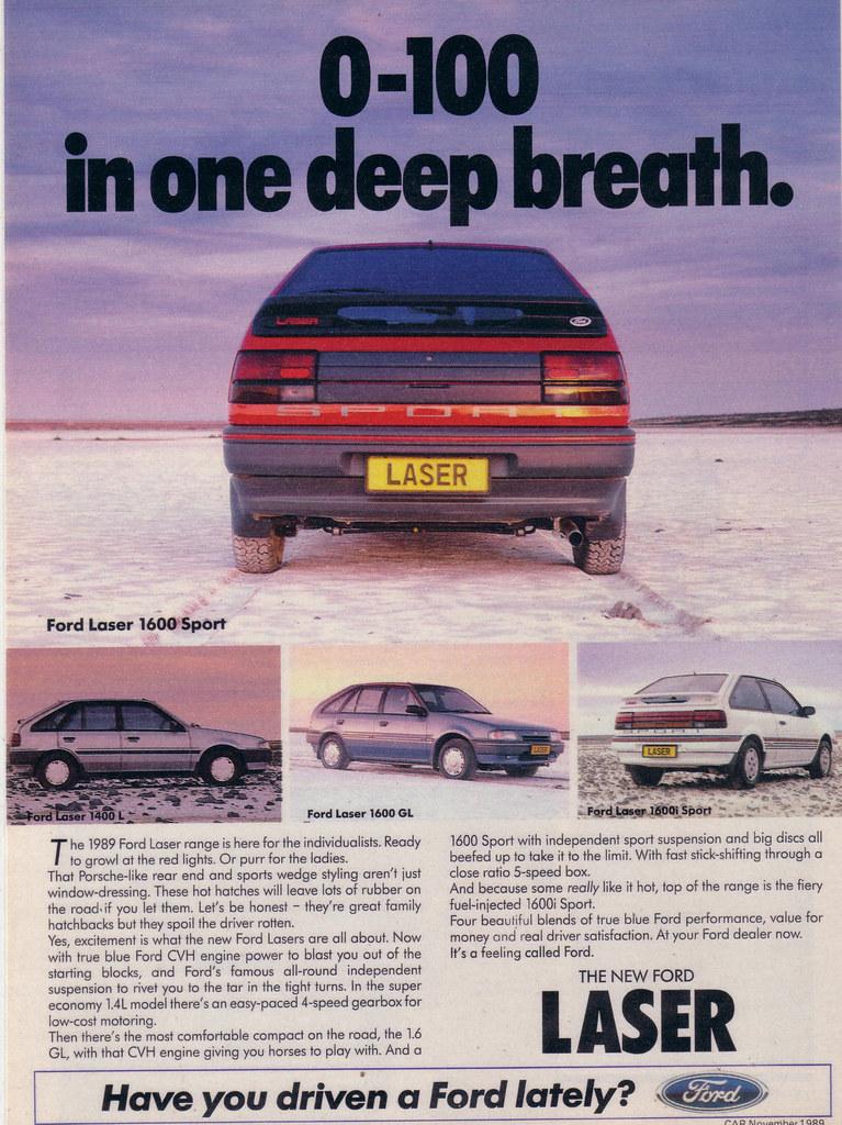 1989 ford laser range ad