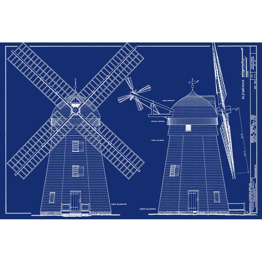 Windmill Bridgehampton Blueprint From Oldblueprints