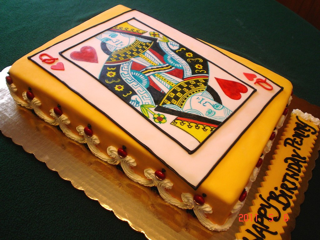 Queen Of Hearts Cake My Brother Ordered This From Me For