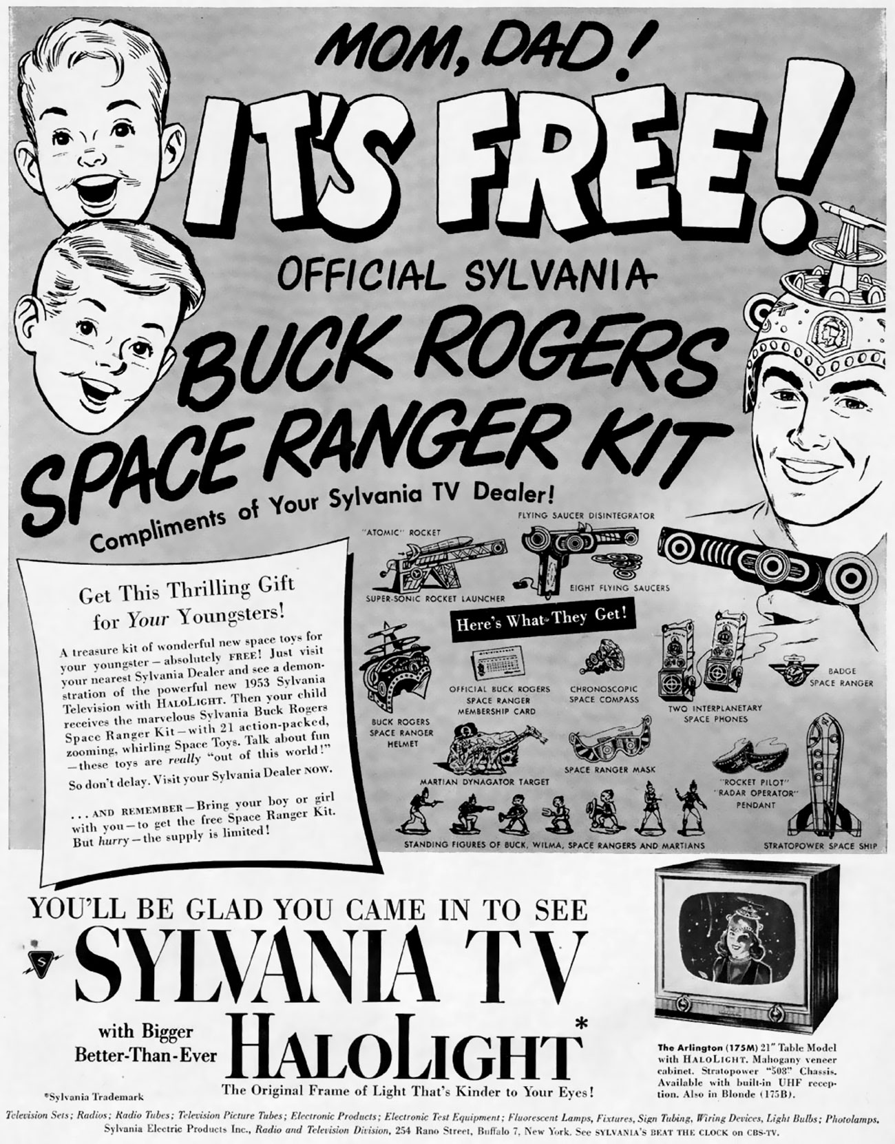 Sylvania featuring Buck Rogers Space Ranger Kit - 1952