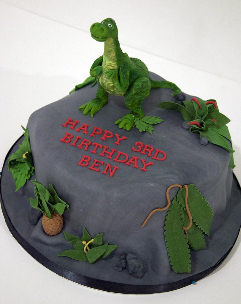 How To Make Dinosaur Cake Template