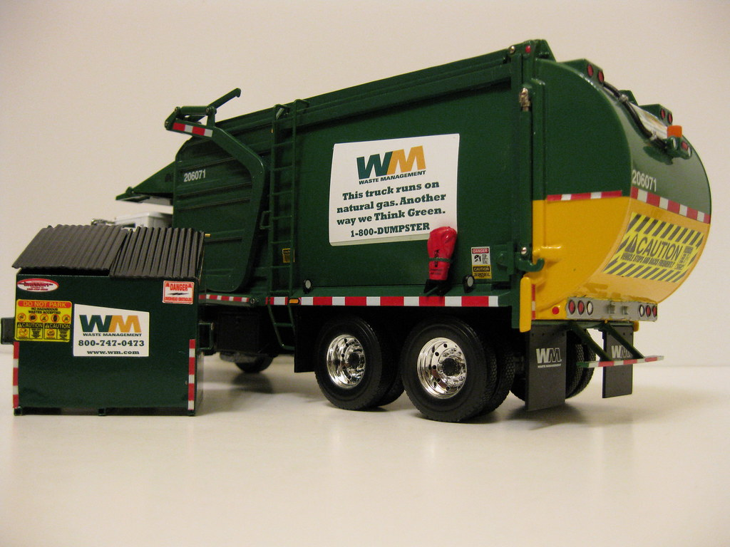 First Gear Waste Management Front Load Garbage Truck W Bi