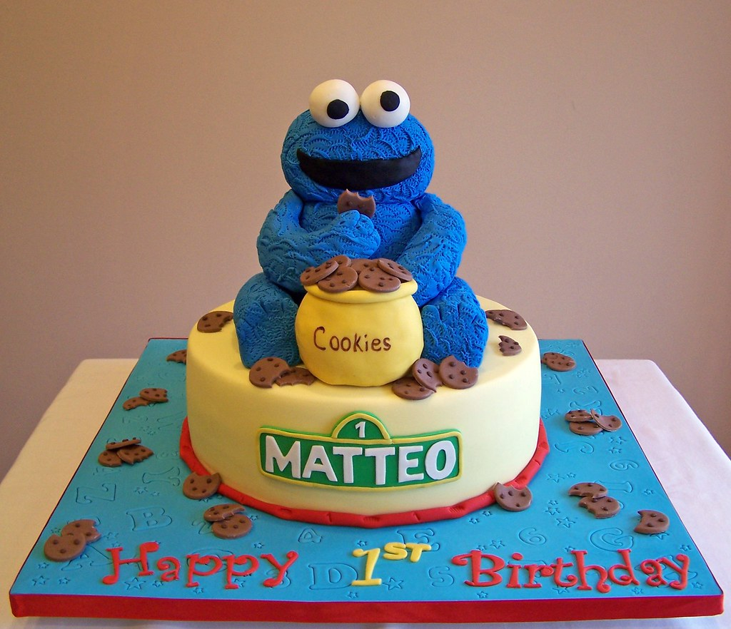 Happy Birthday Cookie Monster Cake
