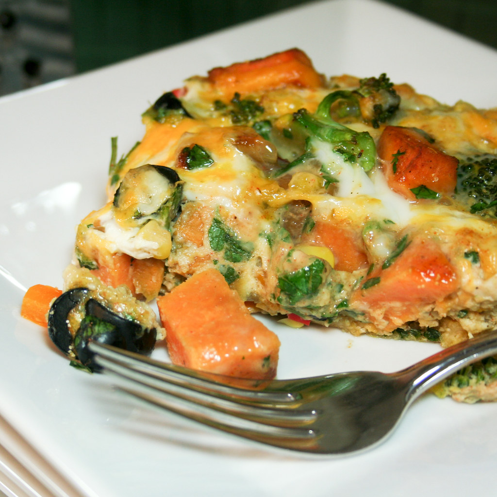 Sweet Potato Broccoli Frittata-4 | Oven baked frittata loade ...