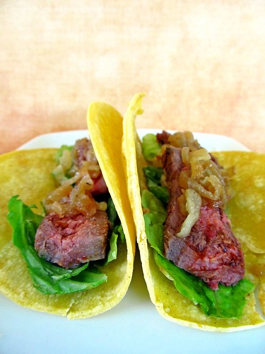 Chipotle Steak Tacos with Caramelized Onions | by CinnamonKitchn