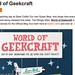 WOGC on Geek Crafts