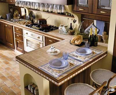 Top in piastrelle di una cucina in muratura spettacolare t flickr - Una piastrella policroma per rivestimenti ...