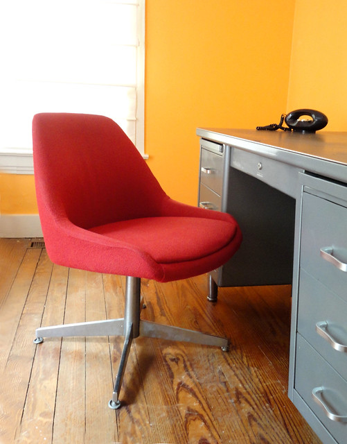 Vintage steelcase office chair circa 1960 s this red vint