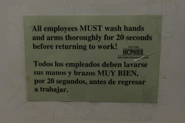 Bathroom sign flickr photo sharing for Clean the bathroom in spanish
