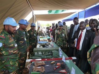 Demining equipment on display | by UN in South Sudan