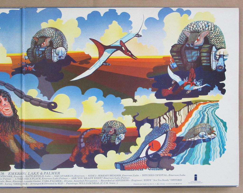 Emerson Lake Amp Palmer Tarkus Uk Gatefold Foc 12 Quot Lp Vinyl