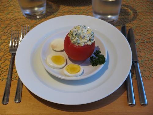 Dalmatinische Tomaten (als Vorspeise bei DDR Menü)