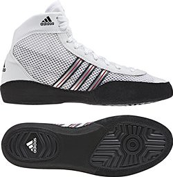 adidas Combat Speed III White Black Wrestling Shoes | by wrestlinggear