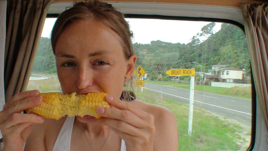 Sweetcorn At Oruaiti Beach