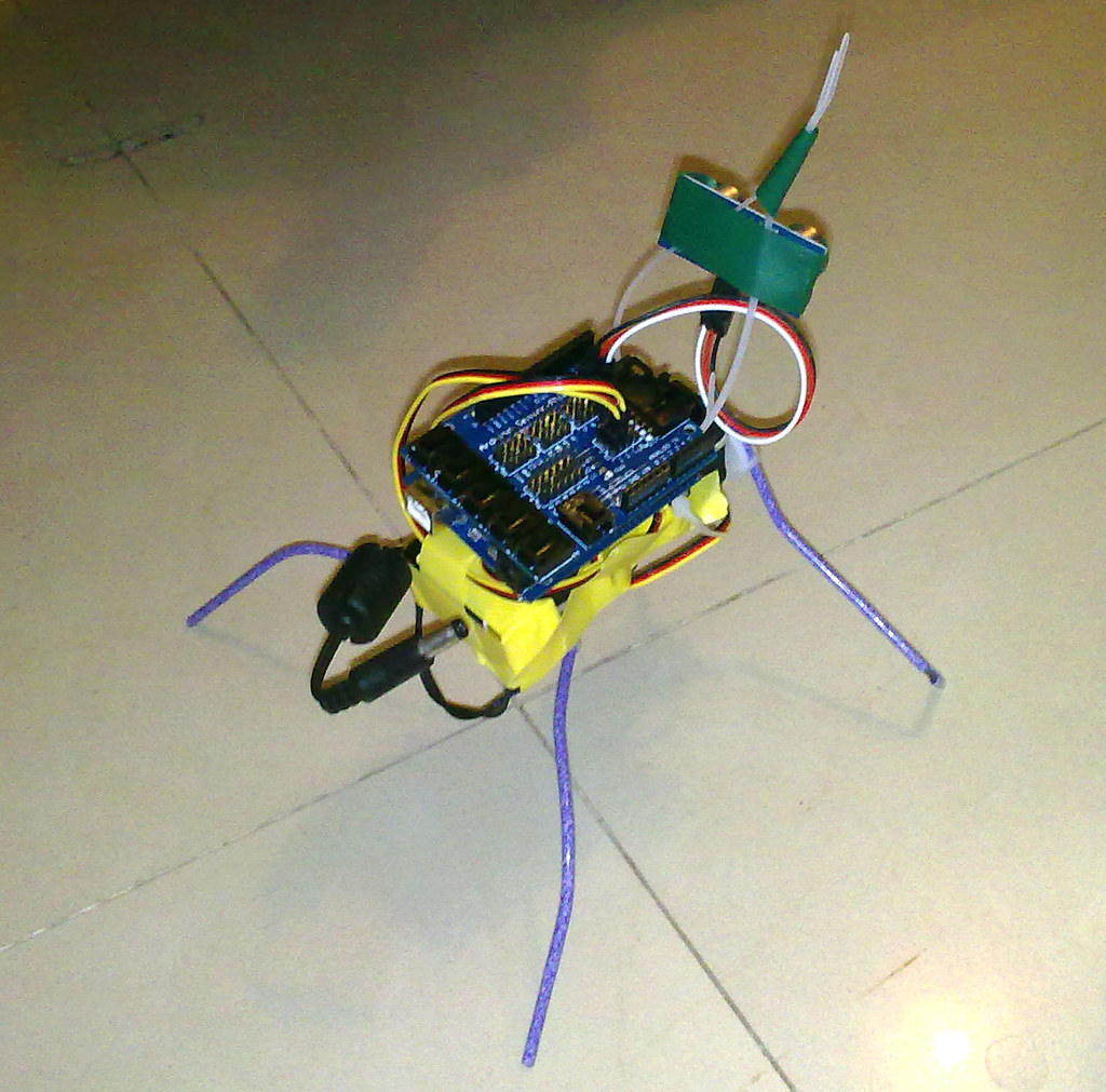 Insect robot build after the description