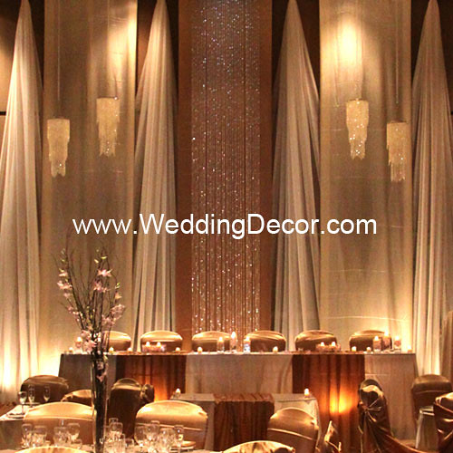 Wedding backdrop champagne ivory a champagne and for Background curtain decoration