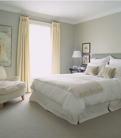 Mcgill design group light grey and pale yellow bedroom for Light grey bedroom