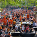 Crowded Prinsengracht of Amsterdam