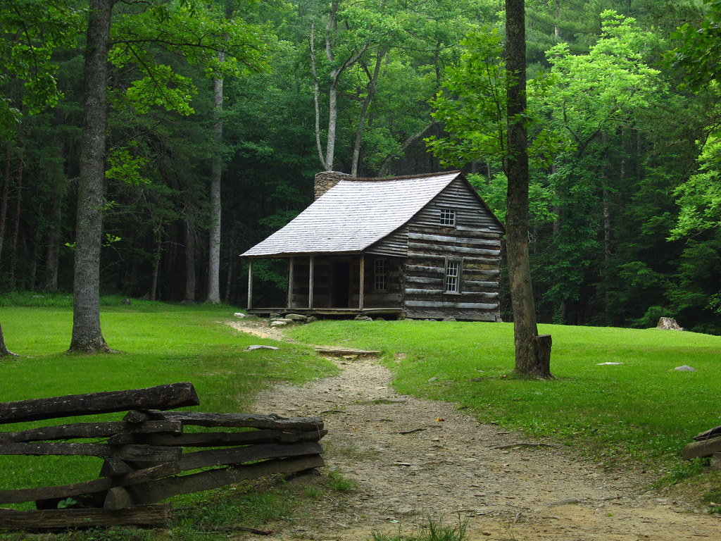 Carter Shields Cabin, Cades Cove, Great Smoky Mountains Na ...