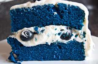 blue velvet cake with blueberries | by owlgray