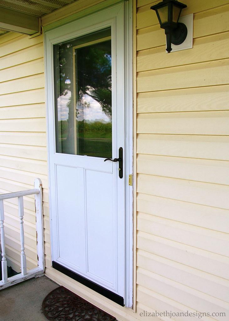 White Storm Door Removed