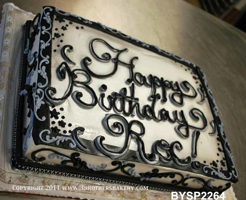 BYSP2264 Sheet Cake Double Writing 3 Brothers