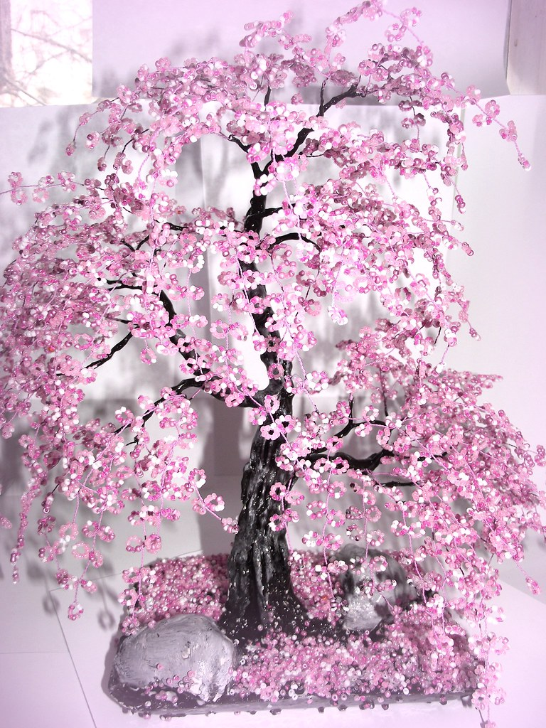 Bonsai Beaded Tree Home Decor Sakura A Tree Is An