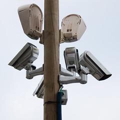 Mât de caméras de surveillance