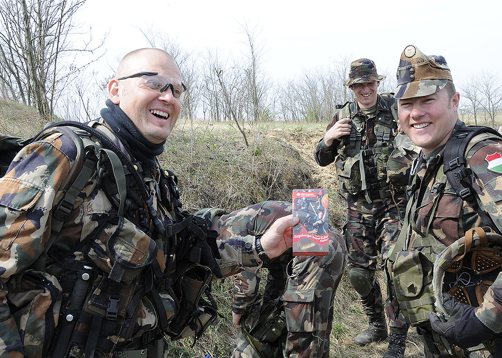 Us Army National Guard >> Hungarian Defense Forces and their Girl Scout cookies | Flickr