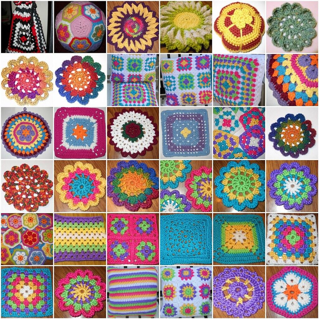 2011 Crochet Mosaic 1 Granny Bag5 2 African Flower