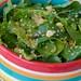 warm quinoa, corn, and arugula salad