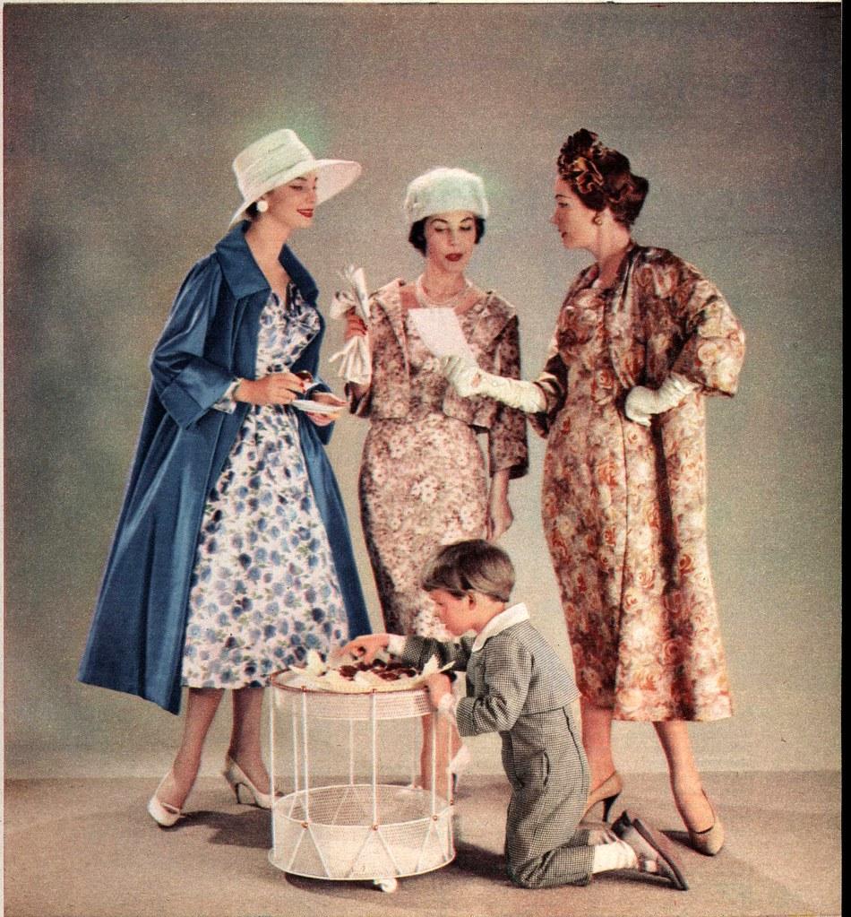 1957 brigitte hochzeit mode f r schw gerin tante braut flickr. Black Bedroom Furniture Sets. Home Design Ideas