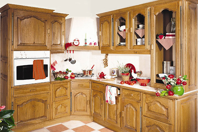 Cuisine quip e rustique mod le traditionnel p rigord for Cuisine equipee
