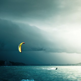 Night Kite Surfer | by ►CubaGallery