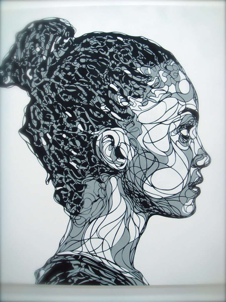 Line Drawing Artist Research : Kris trappeniers stencil on canvas quot shadows and reflecti