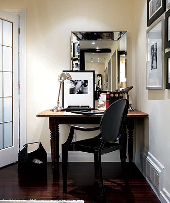 Ideas For Small Spaces Beveled Mirror Benjamin Moore M