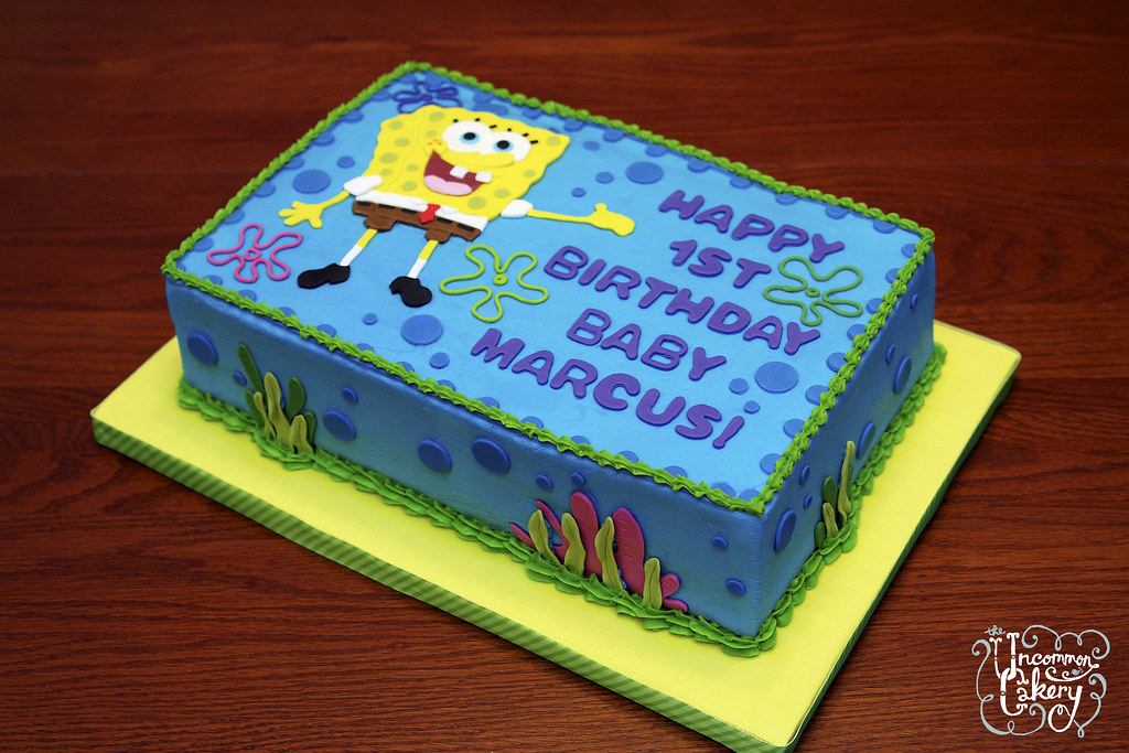 Spongebob Birthday Cakes Designs